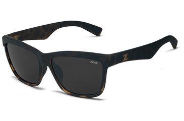 Zeal Optics Zeal Optics Kennedy Sunglasses Torched Tortoise Frame, Dark Grey Lenses, Polarized 10652