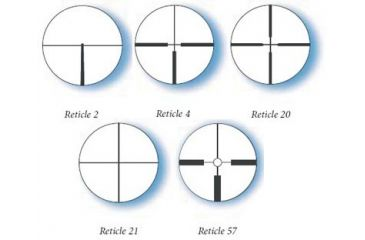 Available Reticles for Zeiss 1.8-5.5x38 50YD Parallax Conquest Rifle Scope
