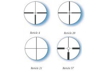 Available Reticles for Zeiss 2.5-8x32 50YD Parallax Conquest Rifle Scope