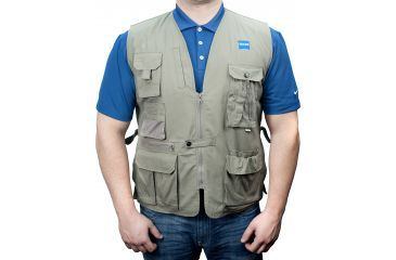 Zeiss Gear Birding Vest, Tan, Large
