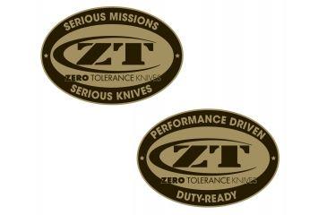 Zero Tolerance Challenge Coin, Brass ZTCOIN