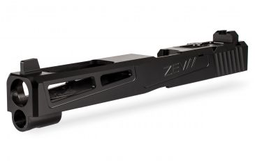 1-ZEV Technologies Z17 Prizefighter Black 4th Gen Stripped Slide with RMR Cover Plate