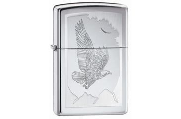 Zippo Birds Of Prey Classic Lighter, High Polish Chrome 21069