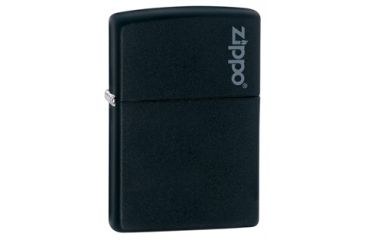 Zippo Classic Style Lighter w/ Zippo Logo, Black Matte 218ZL