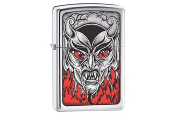 Zippo Fire Down Below Classic Style Lighter, High Polish Chrome 28275