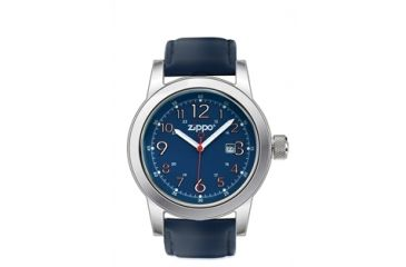 Zippo Casual Classic Style Watch, Blue Dial & Blue Leather Strap 45004