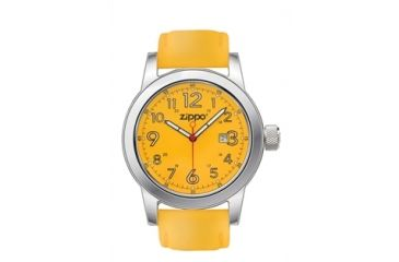 Zippo Casual Classic Style Watch, Yellow Dial & Yellow Leather Strap 45005