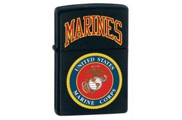 Zippo Marine Corps Classic Style Lighter, Black Matte 218539