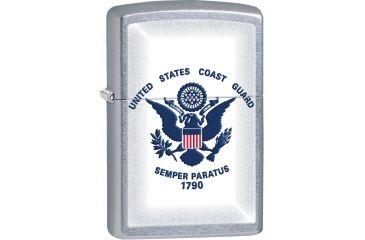 Zippo Coast Guard Street Chrome Lighter ZO28517