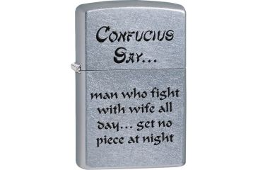 Zippo Confusius Say Wife Night Lighter ZO28460