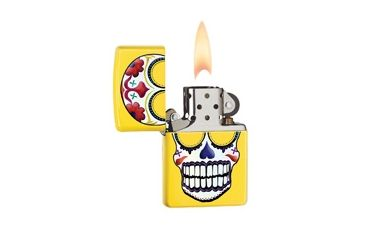 Zippo Day Of The Dead Classic Style Lighter, Lemon 24894