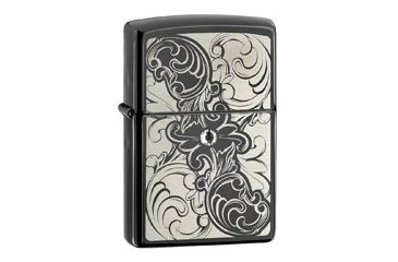 Zippo Ebony Gunstock Filigree Classic Style Lighter 28324