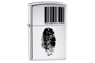 Zippo Finger Id Classic Style Lighter, High Polish Chrome 20836