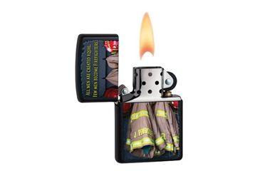 Zippo Firemen Coats Classic Style Lighter, Black Matte 28316
