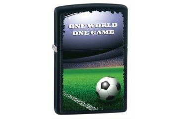 Zippo One World One Game Classic Style Lighter, Black Matte 28301