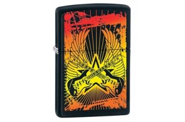 Zippo Guitar Wings Classic Style Lighter, Black Matte 24891