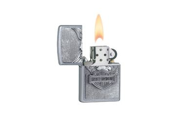Zippo Harley Davidson Iron Eagle Classic Style Lighter, Street Chrome 20230