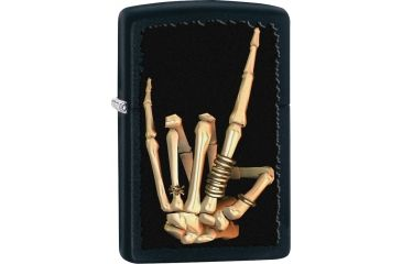 Zippo Heavy Metal Salute Black Lighter ZO28438