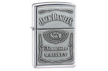 Zippo Jack Daniels Classic Style Emblem Lighter, High Polish Chrome 250JD427