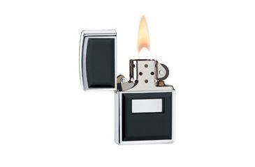 Zippo Engraveable Classic Lighter, High Polish Chrome, Black 355