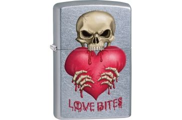 Zippo Love Bites Street Chrome Lighter ZO28464