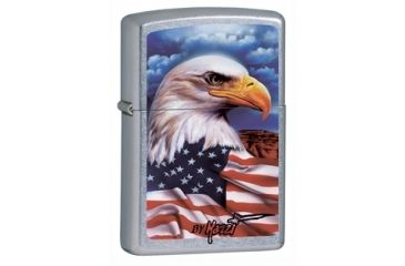 Zippo Mazzi Freedom Watch Classic Lighter, Street Chrome 24764