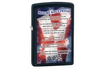 Zippo Military Wifes Prayer Classic Style Lighter, Black Matte 28315