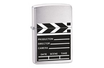 Zippo Movie Take, Brushed Chrome Classic Style Lighter 28064