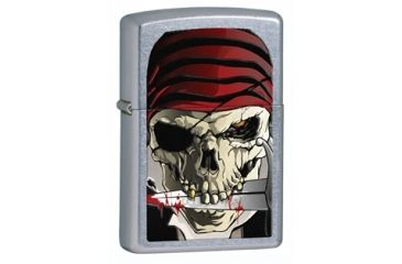 Zippo Pirate Classic Style Lighter, Stree Chrome 28278
