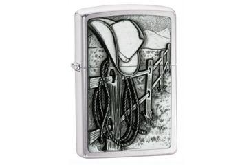 Zippo Resting Cowboy Classic Style Lighter, Street Chrome 24879
