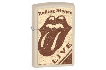 Zippo Rolling Stones Classic Style Lighter, Cream Matte 28018