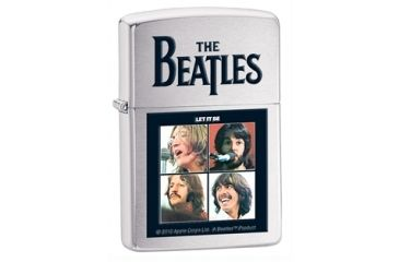 Zippo The Beatles Let It Be Classic Style Lighter, Brushed chrome 28254