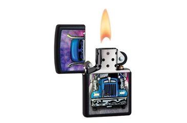 Zippo Truck Head On Classic Style Lighter, Black Matte 28312