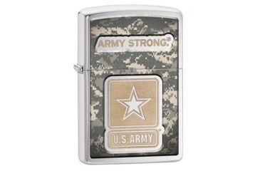 Zippo U.S. Army Strong Brushed Chrome Lighter 28754