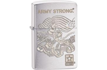 Zippo US Army Brushed Chrome Lighter, Chrome ZO28515