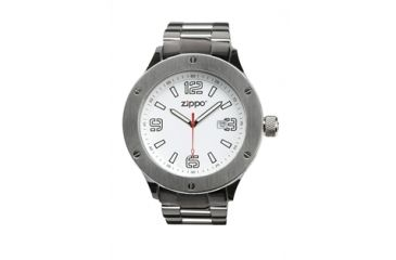 Zippo Work Classic Solid Stainless Steel Watch, White Dial & Solid Stainless Steel Band 45006