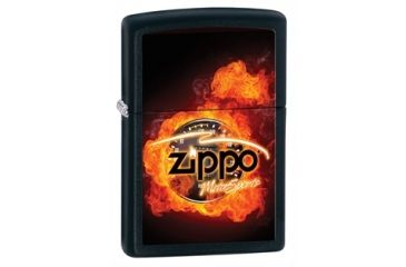 Zippo Motorsports Classic Style Lighter, Black Matte 28335
