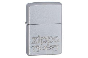 Zippo Scroll Classic Style Lighter, Satin Chrome 24335