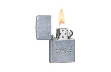 Zippo Stamp Classic Style Lighter w/ Zippo Logo, Street Chrome 21193
