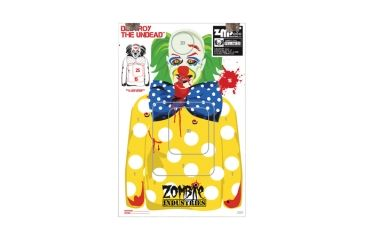Zombie Industries BoBo The Clown Zombie Colossal Paper Targets 24x36 Inch 100 Per Package