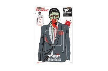 Zombie Industries IRS Agent Zombie Standard Paper Indoor Targets 18x24 Inch 10 Per Package