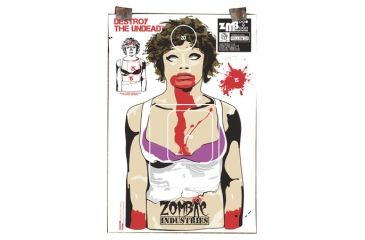Zombie Industries The Ex Zombie Standard Paper Indoor Targets 18x24 Inch 100 Per Package