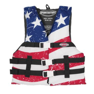 Airhead Youth General Boating Stars & Stripes Gp Pfd Life Vest Save 23% Brand Airhead.