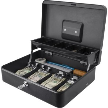 Barska 12 Inch Standard Register Style Cash Box W/ Key Lock Save 51% Brand Barska.