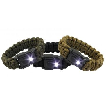 Bison Bukalite Survival Bracelet-White Led Save $1.95 Brand Bison.