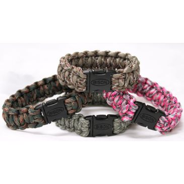Bison Paracord Side Release Survival Bracelet - Cobra Save $1.00 Brand Bison.
