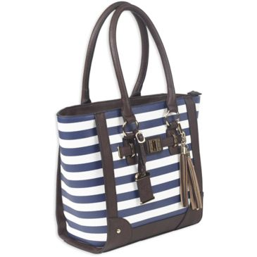 Bulldog Cases Tote Style Purse W/holsters - Navy Stripe Save 33% Brand Bulldog Cases.