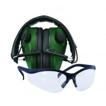 Caldwell E-Max Low Profile Electronic Ear Muffs W/ Shooting Glasses Save 27% Brand Caldwell.