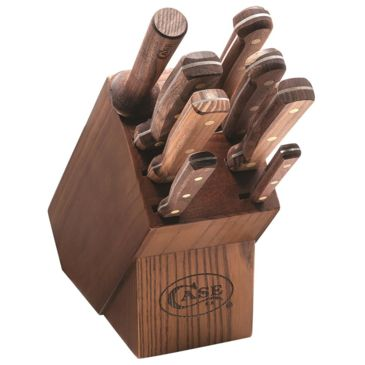 Case Household Cutlery Solid Walnut Handles Knives Set Brand Case.