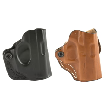 DeSantis 019TA6DZ0 Mini Scabbard Belt Holster Tan Leather RH for Kimber K6S